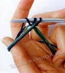 Крестообразный набор петель спицами-7