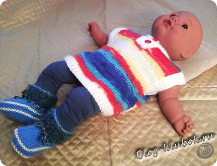 Детский жилет спицами