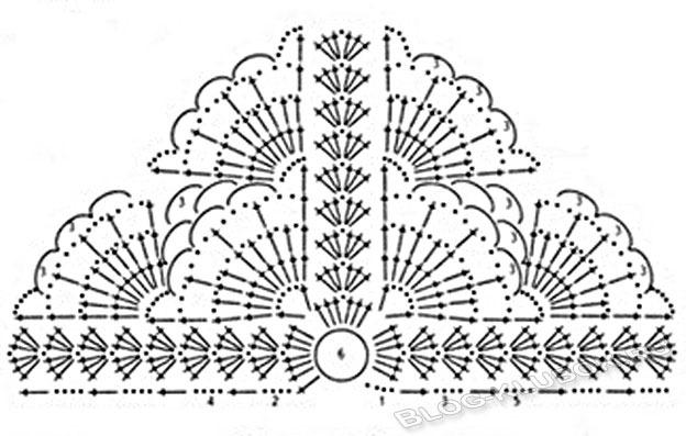 Летняя ажурная косынка для девочки крючком схема вязания | Уроки