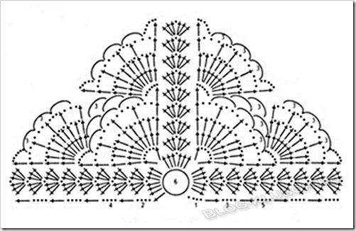 Схема косынки крючком для