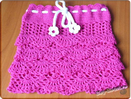 Ажурная юбочка для девочки крючком