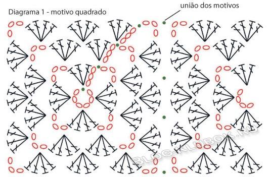 Схема вязания детского пледа