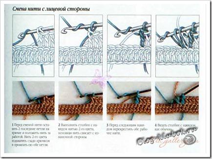 Жаккард крючком вязание-1