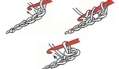 Вязание крючком соединительный столбик