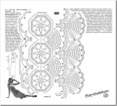 Схема вязания летнего платья крючком