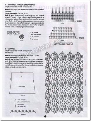 Схема вязания юбочки крючком