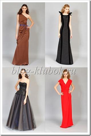 Модные платья в пол-3