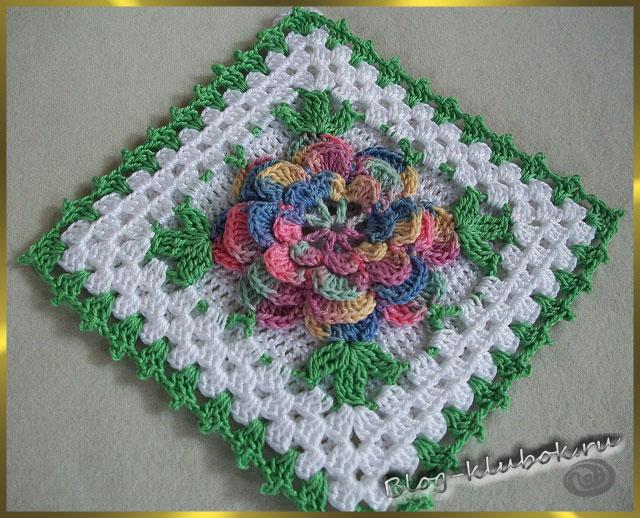 Крючок цветы кактус схема