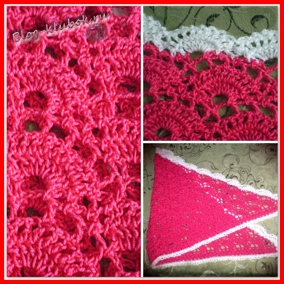 Вязание крючком косынки для девочки фото