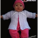 Детская кофточка крючком для малыша