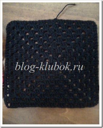 Вязание бабушкин квадрат-1