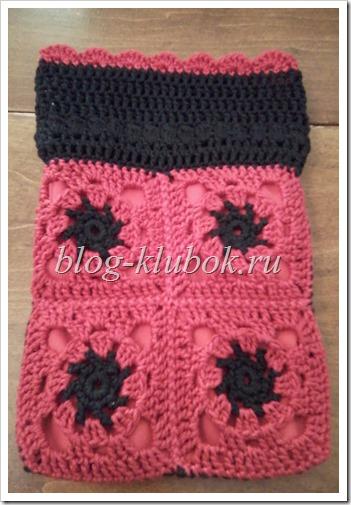 Вязание бабушкин квадрат-3